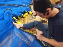 車エビ養殖用仕切り網