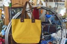 海の帆布バッグ